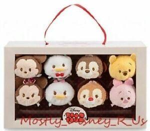 New Disney Store Tsum Mickey Minnie Donald Daisy Valentine Candy Set Plush Doll
