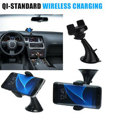 Qi Car Charger Wireless Holder Desk Stand Mount For Samsung Galaxy S8&S8 Plus