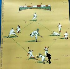 """1940s Wallpaper Vintage Child-Life Baseball """"Play Ball"""" One Partial Roll"""