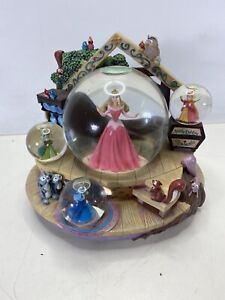 "Disney Sleeping Beauty Aurora Snow Multi Globe And Music Box ""Once Upon a Dream"""