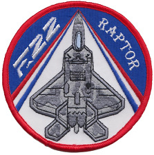 US Air Force F-22 Raptor Stealth Fighter Embroidered Patch ** LAST FEW **