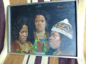 HERBERT STEINBERG LISTED ARTIST PAINTING AFRICAN AMERICAN WOMEN
