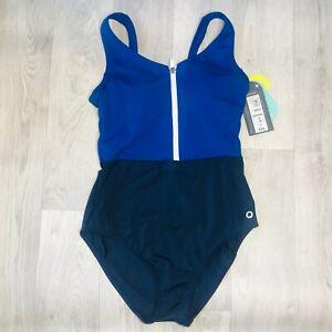 Brand New Active Zip Up One Piece Swimsuit Swimwear ex M&S Size 8 EUR36