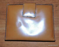 Bosca Vintage Calfskin Leather Passport Travel Wallet Light Brown Bilfold