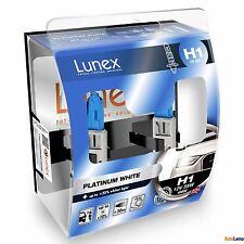 2x H1 Lunex Platinum White 4000K 55W 12V Bombillas Halógenas Faros Hard Case