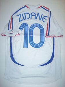 2006 2008 Adidas France World Cup Zinedine Zidane Jersey Shirt Jersey Away Kit