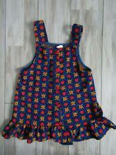 Vintage Carter's Girls Blue w/Hearts & Flowers Jumper Dress Size 5