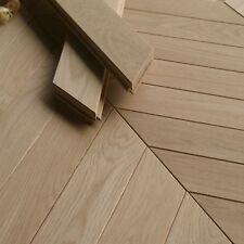 Premium French Chevron V Shape Classic Parquet Flooring - Solid Oak - V72P