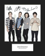 ONE DIRECTION #5 Signed Photo Print 10x8 Mounted Photo Print - FREE DELIVERY