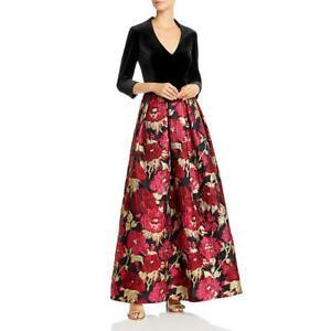 Eliza J Womens Velvet Floral Jacquard Formal Evening Dress Gown BHFO 1060