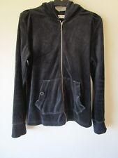 Ladies Miss Shop black velour hoodie jacket    Size 14