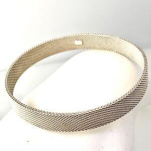 Tiffany & Co Sterling Silver 9mm Wide  Woven Style Bangle Bracelet