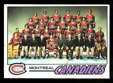1977 78 OPC O PEE CHEE 80 MONTREAL CANADIENS TEAM UNMARKED EX-NM WITH KEN DRYDEN