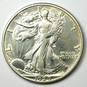 1929-D Walking Liberty Half Dollar 50C Coin - AU Details - Rare Date!