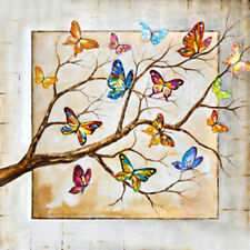 DIY 5D Diamond Painting Partial Drill Picture Colorful Butterfly Branch Decor