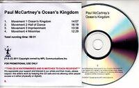 PAUL MCCARTNEY Ocean's Kingdom 2011 UK numbered promo test CD + press release