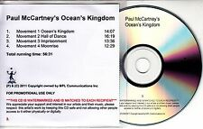PAUL MCCARTNEY Ocean's Kingdom 2011 UK numbered promo test CD + press release