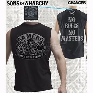 Sons of Anarchy No Rules Muscle T-Shirt Small