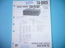 Service Manual-Anleitung für Sony TA-D905  ,ORIGINAL
