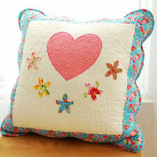 65%OFF Blue Stitched Hearts Quilted Cushion Cover Cath Kidston Fabric A08
