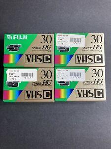 VHS-C Lot of 4 Sealed Tapes Fuji - 30 Minute Super HG