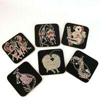 Australian Indigenous Artwork Souvenir Coasters Cork Back Set of 6 Collectables