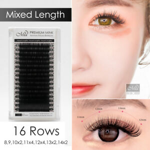 Mixed Length Faux Mink Lash Individual Eyelash Extension Soft Natural Matte