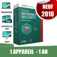 Kaspersky internet security 2018  1 appareil Pc 1 An