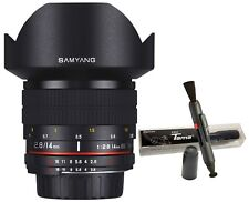 Samyang 14mm F2.8 ED AS UMC f/2.8 Ultra Wide Angle Lens for Canon EOS DSLR +Gift