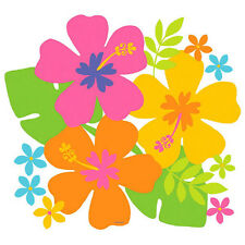 Multicolor Hibiscus Luau Cutout ~ Summer Beach Hawaiian Party Decoration Supply