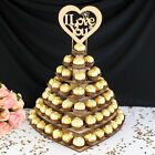 Heart Wedding Chocolate Display Stan Rustic Wedding Love Decor Wood WeddingL YH