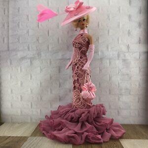 HANDMADE Rose 9 Pcs Dress Set FOR Barbie Vintage,Silkstone & Reproduction Doll