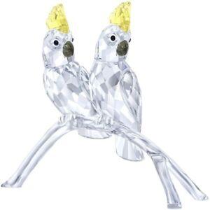 Swarovski Crystal Figurine Pair of Birds COCKATOOS -5135939 New