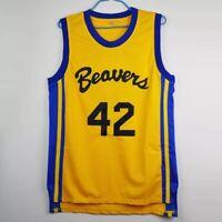 Scott Howard #42 Teen Wolf Official Movie Jersey Beacon Beavers Yellow S-3XL