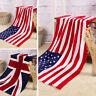USA/British Flag Union Jack Pattern Bath Beach Large Soft Towel Washcloth Pro·