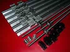 SBR16-300/600/800mm linear rail+3 RM1204 ballscrew+BK/BF10 end bearing CNC