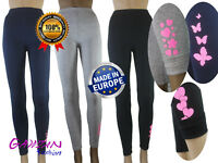 Girls Winter Thick Warm Glitter Decorations Full Leggings Age 6 7 8 10 11 12 14