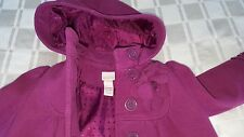 Girls purple monsoon coat age 3-4