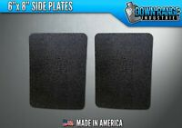 AR500 Level III 3 Body Armor Plates Pair - Curved 6x8 Side Plates