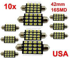 10 42mm Car Interior 16 SMD White Led light 3528 Dome lamp Bulb 211 2 578 212 2
