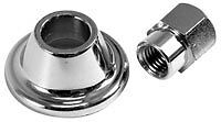 Chrome top pulley nut and washer, vw beach buggy, trike, beetle etc