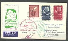 1958. Nueva York a Alemania. Sobre circulado con viñetas del Correo Aereo