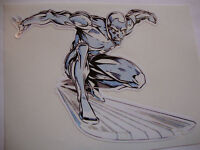 "4"" SILVER SURFER  STICKER + 2 OTHER 4"" DISNEY CARTOON CHARACTERS  YOUR CHOICE"