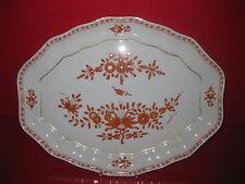 Meissen Indisch Koralle Goldrand Schale Platte Kuchen Fleisch indische Malerei