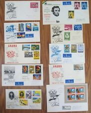 Lot 10x TEN Ghana 1959 1960 1961 FDC First Day Cover Collection Football Freedom