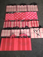 Lot Of 16 Assorted Victoria Secret Paper Shopping Bags