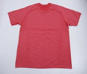 Lululemon Men's Metal Vent Tech Short Sleeve Color Currant Size L Stretch
