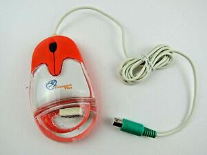 NOB Aqua Mouse Model # AM-930-P Passport Plus Orange White & Clear Mouse