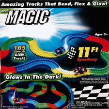 1 Set   LED Tracks Glow Toys Light up Magic Childen Racetrack Race Car Bend