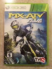 MX vs ATV Alive ( Microsoft Xbox 360 ), Complete w/Case & Manual